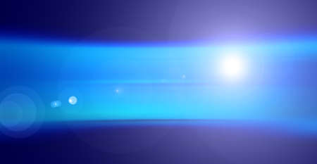 flare light: Abstract blue background, lens flare light effect Stock Photo