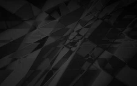 chaos: Abstract dark geometric chaos background, black and gray backdrop
