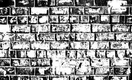 white brick: Grunge black and white brick wall texture background