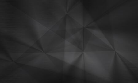 neutral: Polygonal dark background, brushed metal texture, neutral gray surface