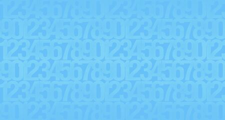 Abstract blue background with the image of numbers to illustrate the design work of cryptography, computer technology or security systems