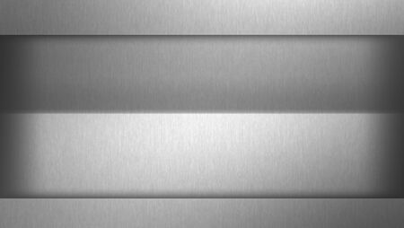 Dark gray background, brushed metal texture surface
