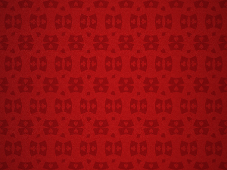pattern for a casino on the red cloth