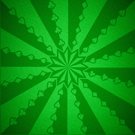 pattern for a casino on the green cloth Stock Photo