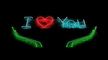 te amo: Decir que te amo  Foto de archivo