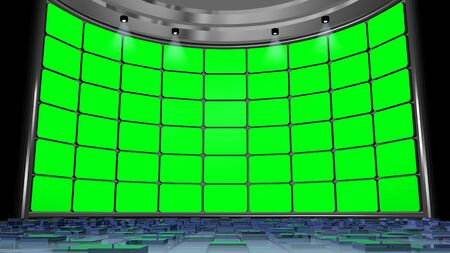 screen: virtual studio green screen