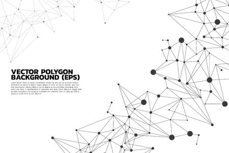 Fond de polygone de point de connexion réseau: Concept de réseau, entreprise, connexion, molécule, données, produit chimique
