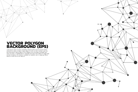 Network Connecting dot polygon background : Concept of Network, Business, Connecting, Molecule, Data, Chemical
