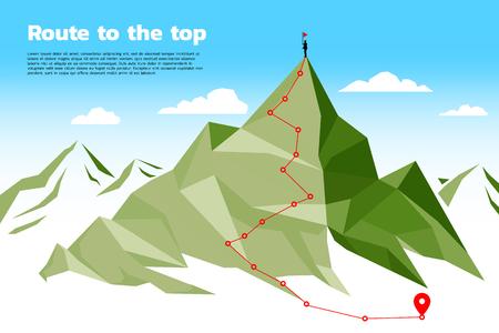 Trasa na szczyt góry: koncepcja celu, misja, wizja, ścieżka kariery, styl linii połączonych wielokątem