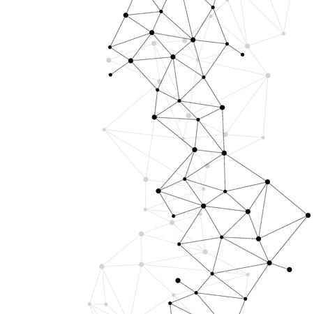 Fond de polygone de point de connexion réseau: Concept de réseau, entreprise, technologie, connexion, molécule, données, produit chimique