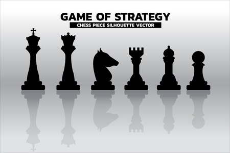 chess piece silhouette vector. icon for business planning and strategy thinking