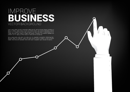 close up Businessman hand push stock graph to higher. Background concept for making success and growth business