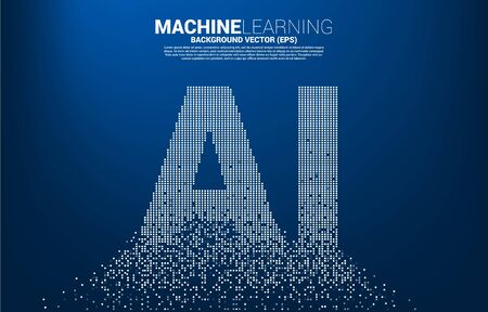 AI wording from pixel transform. concept of machine learning and Artificial Intelligence technology