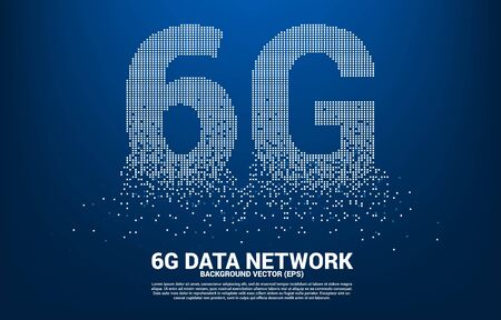 6G mobile networking from small square pixel. Concept for mobile sim card technology and network.