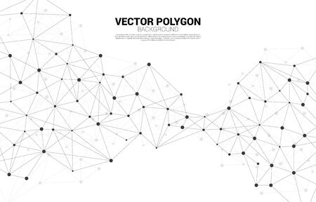 Network Connecting dot polygon background. Concept of Network Business, technology, Data and chemical. Dot connect line abstract background represent futuristic network and data transformation Illusztráció