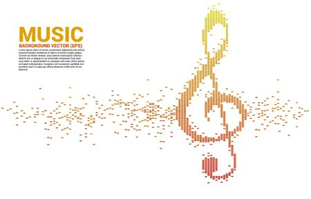 Sol key note icon Sound wave Music Equalizer background. background for event concert and music festival
