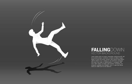 silhouette of businessman falling on the floor. Concept for fail and accidental business 일러스트