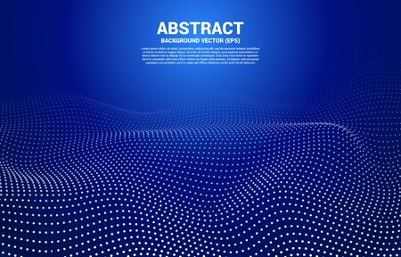 Blue Digital Contour curve dot and line and wave with wireframe Abstract Background for 3D Futuristic technology concept Ilustrace