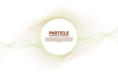 Digital radial circle curve from random particle dot . Abstract Background for 3D Futuristic technology concept 일러스트