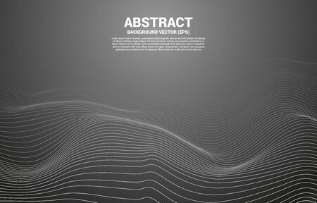 Digital Contour curve line and wave with wireframe . Abstract Background for 3D Futuristic technology concept Illusztráció
