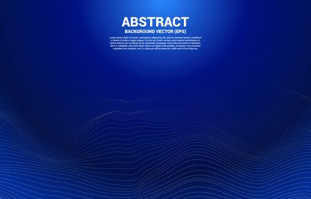 Digital Contour curve line and wave with wireframe . Abstract Background for 3D Futuristic technology concept 일러스트