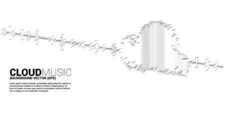 Cloud music and sound technology concept .equalizer wave as cloud shape Illustration