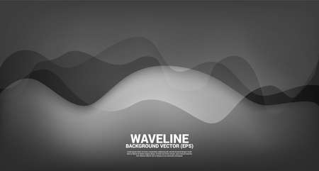 black fluid curve shape background. Concept design for flowing futuristic and liquid wave style artwork