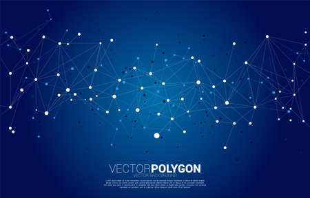 Network Connecting dot polygon background. Concept of Networking technology and futuristic style.