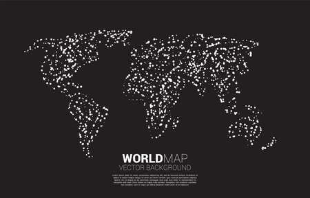 World map with random dot . concept of global Digital network