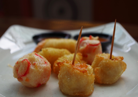 Chinese appetisers in a street food restaurants at Singapore