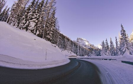 Snowy Landscape of Dolomites Mountains during Winter Season, Italy Stock Photo - 12172680