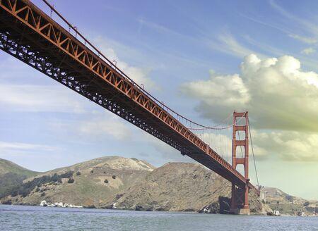 Clouds over Golden Gate Bridge in San Francisco, U.S.A. Stock Photo - 12160830