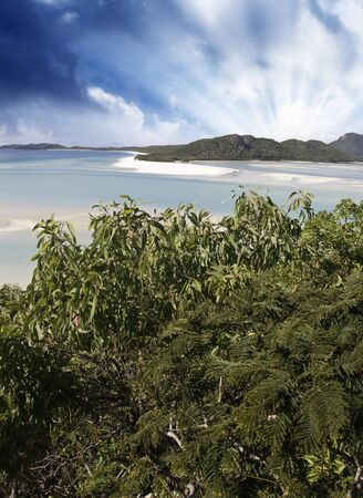 whitehaven: Stormy Sky over Whitehaven Beach in Queensland, Australia