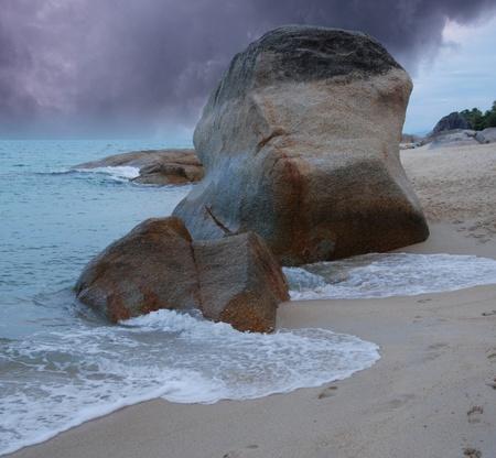 Cloudy Sky in Lamai Beach, Koh Samui, Thailand Stock Photo - 12161001