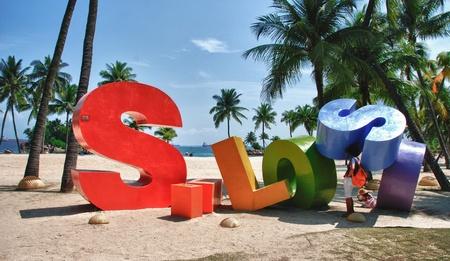Siloso in Sentosa Beach, Singapore