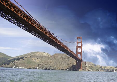 Storm over Golden Gate Bridge in San Francisco, U.S.A. Stock Photo - 12178128