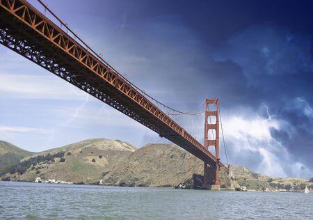 Storm over Golden Gate Bridge in San Francisco, U.S.A. Stock Photo - 12178128