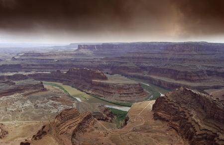 Grand Canyon Landscape and Clouds, U.S.A. photo