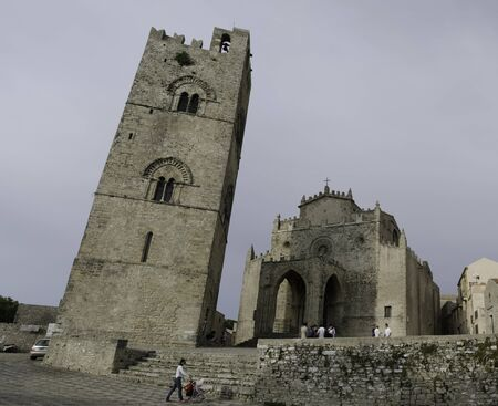 Architecture Detail of Erice in Sicily, Italy photo
