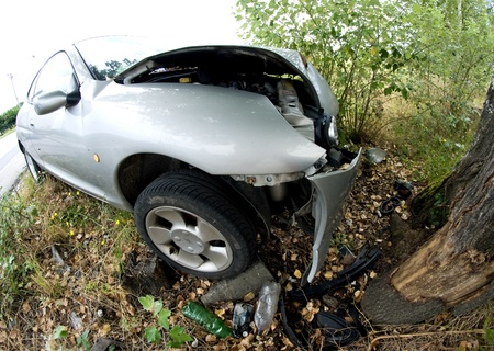 Car Accident against a Tree, Italy Stock Photo - 12178931