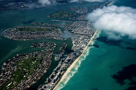 Aerial View of Miami in Florida photo