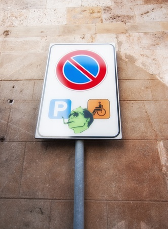 Detail of Pisa and its signs, Italy photo