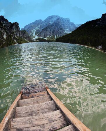 Lake of Braies on the Dolomites, Italy Stock Photo - 12178314