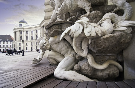 Sculpture Detail of a Central Square Vienna, Austria