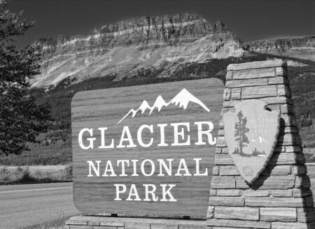 Signs of Glacier National Park, United States