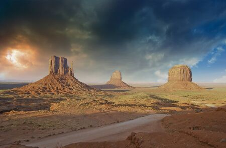 western united states: Rocks and Colors of Monument Valley, U.S.A.