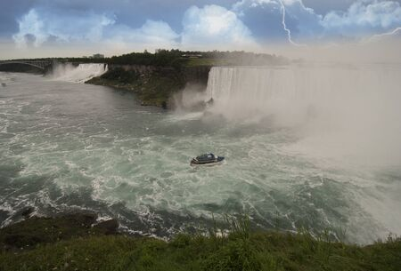 Storm approaching Niagara Falls, Canadian Side photo