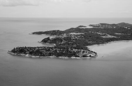 Koh Samui Island viewed from the Plane, Thailand photo
