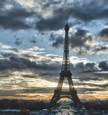 Eiffel Tower view from Champs de Mars, Paris