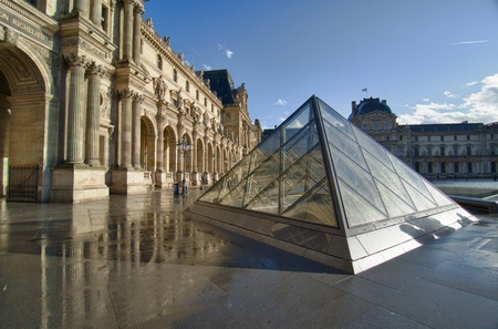View of The Louvre Museum in Paris, France